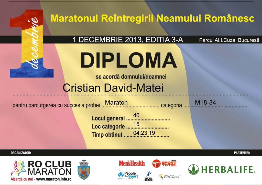 Maratonul Reintregirii Neamului Romanesc 2013