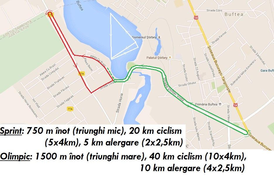 Traseu Pegas Triatlon Buftea